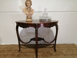 Antique Early C20th Side Occasional Hall Lamp Table coffee wine console table
