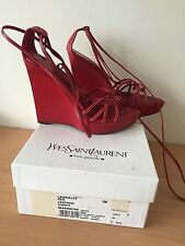Yves Saint Laurent Red Shoes,size 38, Uk 5 Stunning! Paid 300£