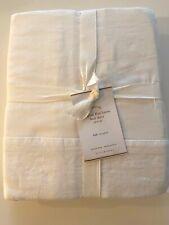 NWT Pottery Barn Belgian Flax Linen BED SKIRT White FULL