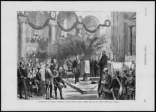 1874 - Antique Print GERMANY Prince Crown Frederick William Victor Albert  (224)