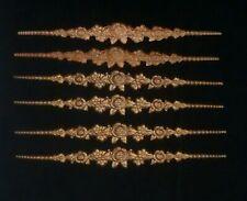 Antique Vintage Gold Rose Decorative Frame Metal Accent Embellishments Lot of 6