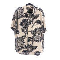Vintage Jams World Mens Size Large Floral Sunflower Hawaiian Button Shirt