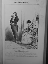 1854 DAUMIER HONORE ROGER MACAIRE MARIAGE FORCE ELOA SIMPLE JOBARD