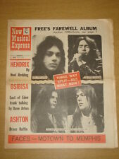 NME #1272 1971 JUN 12 FREE JIMI HENDRIX FACES OSIBISA