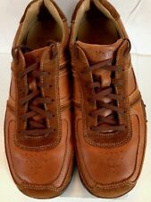Men's MR. CAT SPORT Original Brown Leather Bench Made Shoes Sneakers  Sz 42 US 8
