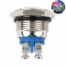 16mm Start Horn Button Momentary Stainless Steel Metal Push Button Switch AG
