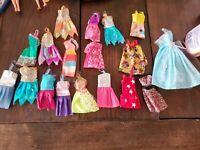 Lot Doll Clothes 18 Barbie Dresses including vintage Micky mouse dress