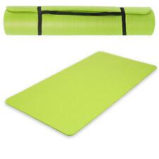 Esterilla de yoga gimnasia Colchoneta fitness Pilates deporte verde 190x100x1,5