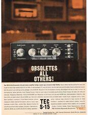 1961 TEC S-15 Stereo Amplifier Hi-Fi Vtg Print Ad