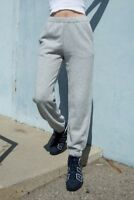 Brandy melville super soft Heather gray Rosa  pull up sweatpants sz S NWT
