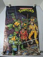 """Vintage 1988 Teenage Mutant Ninja Turtles Poster TMNT 21 X 32"""""""