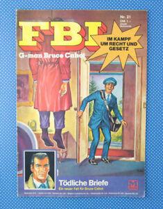 FBI | G-man Bruce Cabot | Nr. 21 | Tödliche Briefe | Moewig Verlag |