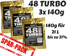 3x Turbohefe turbo yeast Alcopure 48 ExtraPure Alkohol Brennhefe Gärhefe 3x140g