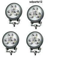 4 Fanali Rotondi Luci Diurne Led Work Light Lampada Faro Lavoro 12/24V 9W IP67