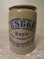 Antiguo ESBOS Cerámica / Loza de Barro Bote - Bávaro Ochsenmaulsalat - Vintage