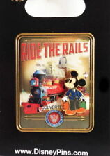 """Disney Pin Mickey with Bags at Disney Railroad """"Ride the Rails"""" 3 D  New on Card"""