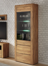 Oakli Oak Effect  Tall Display Cabinet K10 Display Unit Lounge Furniture