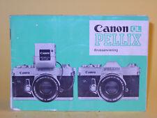 Original(!) Canon PELLIX QL Instruction Manual - in Swedish!