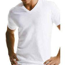 Lot of 12 Mens White V-Neck T-Shirt 100% Cotton Undershirt XL