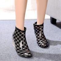 Summer autumn popular womens rainboot high heel ankle boots wedge heel rainshoes