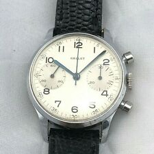 RARE VINTAGE GALLET MANUAL WIND CHRONOGRAPH VENUS 188 WITH  34 MM CASE