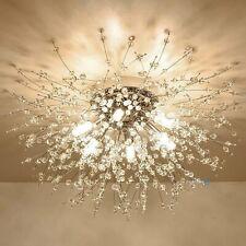 Crystal Ceiling Lighting Chandelier Flush Mount 8-Light Pendant Light Fixture US