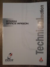 MITSUBISHI SPACE WAGON orig 1999 UK Mkt Technical Info Brochure with Sheets