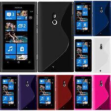 Hülle flexibel Silikon Gel Muster S-Line Nokia Lumia 800/ 800c/ Sea Ray