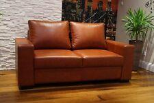 Braun Echtleder 2 Sitzer 175cm Sofa 100% Rindsleder Echt Leder Couch