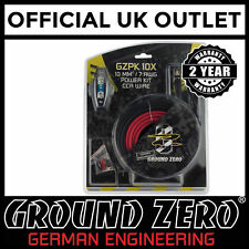 Ground Zero 2000 Watts 8 AWG Gauge Car Amplifier Amp Sub Woofer Full Wiring Kit