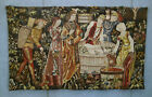French Tapestry Point de L'Halluin 3876 Le Pressage Pressing Wine 61.5 Inch