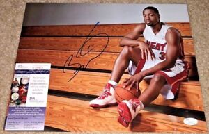 DWYANE WADE SIGNED 11X14 PHOTO MIAMI HEAT MARQUETTE LEBRON JAMES NBA JSA