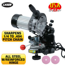Electric Chainsaw CHAIN GRINDER SHARPENER Comes with 2 wheels and tools NEW