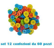 Set 720 Pezzi Bottoni Piccoli Colorati Sartoria Vestiti Giovani Bambini moc