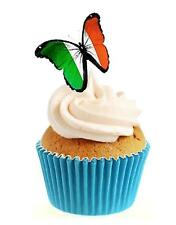 Novelty Irish Butterfly 12 Edible Stand Up wafer paper cake toppers birthday
