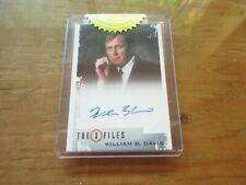X-Files Archives Classic Autographs - WILLIAM B. DAVIS Autograph Card