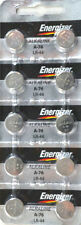 10 Fresh Genuine Energizer LR44 A76 357 1.5V Alkaline Coin Cell Button Batteries