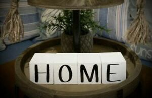 Tiered Tray! Wooden Blocks! Farmhouse! Decor! Home!