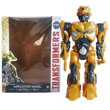 30 Cm Transformers Bumblebee hablando   Caminar música LED de figuras de  acción de juguete de muñecas b60b80d2547