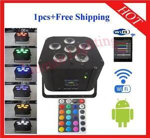 6*18W RGBWAP 6 in 1 Wireless DMX IR Battery Power Wifi Led Par 1pc Free Shipping
