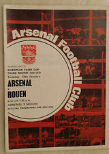 COPPA FIERE europee 1969/70: Arsenal V ROUEN (3rd ROUND 2nd gamba)