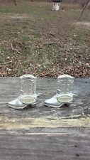 miniature metal silver cowboy boot salt pepper shakers silver dollar city