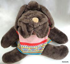 Senitt Canada Wrinkles Hound Dog Plush Puppet Big 24in Orig Creator 1990s Vtg