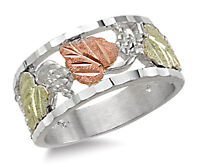 Landstrom's® Black Hills Gold Sterling Silver Ladies Band Ring Size 4 to 10