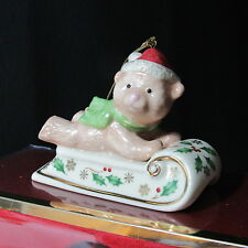 Lenox Holiday Sleightime Bear Christmas Ornament New in Box (1Zkz)