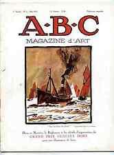 A-B-C Magazine d'Art Willette dessinateurs bijou 1925