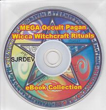 Pagano brujería rituales magia blanca oculta Wicca colección de libros en CD