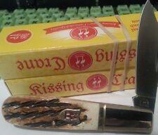 Kissing Crane Burnt Bone Barlow Folding Knife