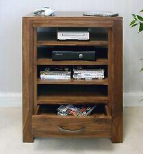 Linea solid walnut home furniture entertainment console TV cabinet storage unit
