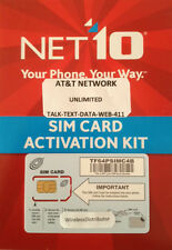 Net10 Sim Card At&T Compatible + Unlimited Service as low as $35 @ Month !